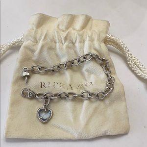 Judith ripka silver chain bracelet